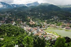 Top view of Sapa, Vietnam Royalty Free Stock Photos