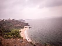 Top view of sea beach stock photography