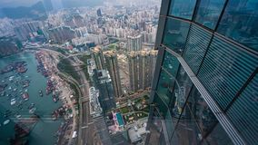 Top View Of Port In Hong Kong stock images