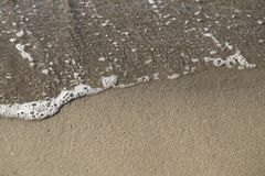 Top view of sea and sand stock photography