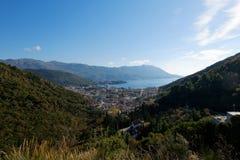 Top view of the seacoast Budva Royalty Free Stock Photos
