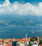 Top view of the seacoast of Budva, Montenegro Royalty Free Stock Photo