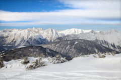 The top view of Seefeld ski region Royalty Free Stock Photo