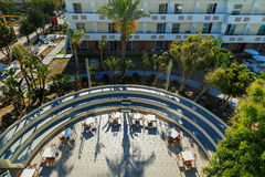 Top view of the semi-circular stage in modern Hotel Rhodes. Top view of the semi-circular stage in the modern Hotel Rhodes Stock Photography