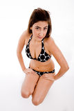 Top view of sensual woman Stock Image