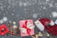 Top view serial image of creative design Merry Christmas & Happy new year concept Royalty Free Stock Image