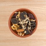 Beef jerky trail mix in a bowl Royalty Free Stock Photography