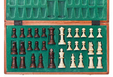 Top view of set of chess pieces Stock Photos