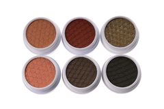 Top view of a set of colorful eye shadows Stock Images