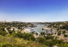 Top view of Sevastopol and cargo port, Crimea Royalty Free Stock Images