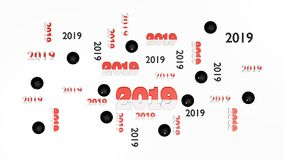 Top View of Several Pala 2019 Designs with Some Pelote balls. On a White Background Stock Photos