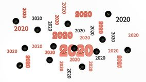 Top View of Several Squash ball 2020 Designs with Some Balls. On a White Background stock illustration