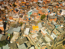 Top view of shacks in slum of Rio de Janeiro Royalty Free Stock Photo