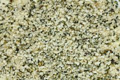 Top view of shelled hemp seeds. Can be used as background Royalty Free Stock Photography