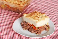 Top view of shepards pie Stock Photo