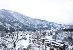Top view of Shirakawago Stock Photos