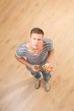 Top view shot of young man Stock Photos