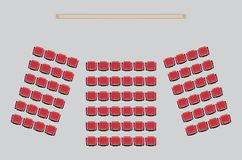 Top View show Seat in the Theater Royalty Free Stock Photography