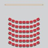 Top View show Seat in the Theater Stock Photography