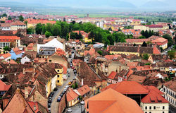 Top view of Sibiu historical centre Royalty Free Stock Images