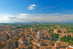 Top view of Siena. Royalty Free Stock Photography