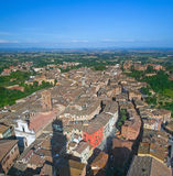 Top view of Siena. Stock Photography
