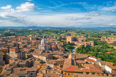Top view of Siena. Stock Photos
