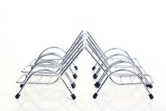 Top View Silver Steel Chair Stock Images