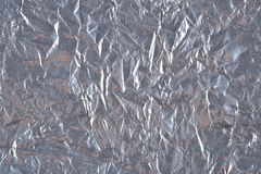 Top view of silvery foil background texture Royalty Free Stock Photography