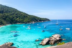 Top view of Similan island at Mu Koh Surin National Park, Phangnga Province stock photography