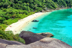 Top view of Similan Island National Park in Thailand. Royalty Free Stock Photo