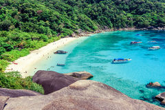 Top view of Similan Island National Park in Thailand. Royalty Free Stock Photography