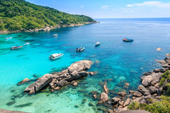 Top view of Similan Island National Park in Thailand. royalty free stock photos