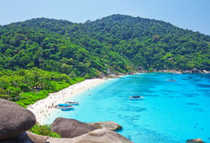 Top view of Similan island Stock Image