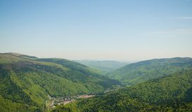 Top view of Sinaia Stock Photo