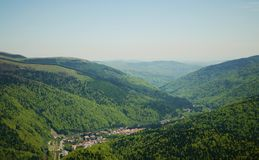 Top view of Sinaia Stock Image