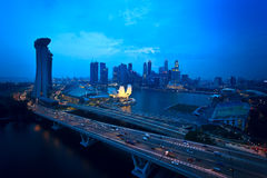 Top view of singapore flyer landscape Royalty Free Stock Photo
