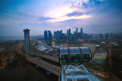Top view of singapore flyer landscape Royalty Free Stock Photos