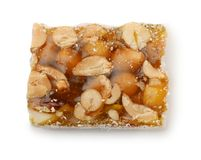 Top view of single turkish delight with nuts Stock Photo
