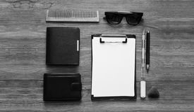 Top view sketch black and white mockup. Top view sketchbook black and white mockup Royalty Free Stock Photography
