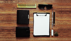 Top view sketch colored mockup. Top view sketchbook colored mockup Royalty Free Stock Image