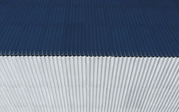 Top view of the slate roof of the house. Slate roofing material.  Royalty Free Stock Photography