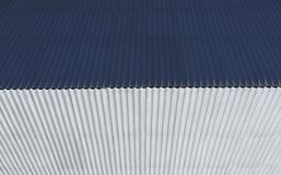 Top view of the slate roof of the house. Slate roofing material.  Royalty Free Stock Image