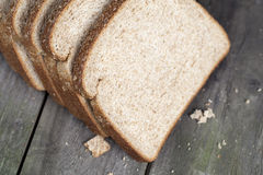 Top view slice bread Stock Photos