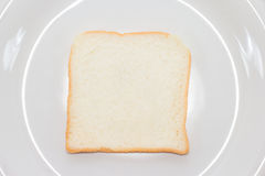 Top view of sliced bread on dish Stock Images