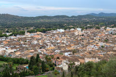 Top view of the small town on the island of Mallorca. Spain Stock Photos