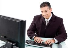 Top view of smiling businessman Stock Photography