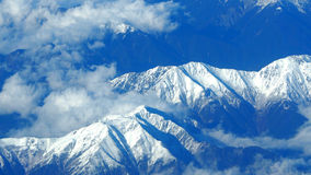 Top view of snow hills. Stock Photo