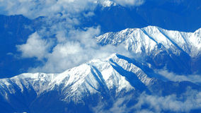 Top view of snow hills. Royalty Free Stock Photo