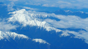 Top view of snow hills. Royalty Free Stock Photos